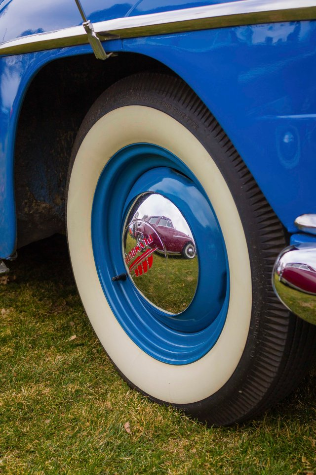 Vintage Tire Reflection - ©Tamara Isaac