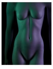 Zelda Bodyscape with Gels - ©Derek Chambers