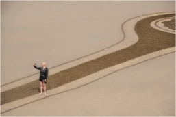 Selfie and Sand Art - Larry Citra