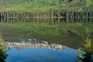 Reflection of Yellowhead Mountain, Yellowhead Lake, Mount Robson Provincial Park May 2018