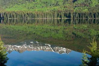 Reflection of Yellowhead Mountain, Yellowhead Lake, Mount Robson Provincial Park May 2018