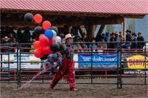 Clown in the rain at Williams Lake Stampede July 2018 - Gloria Melnychuk