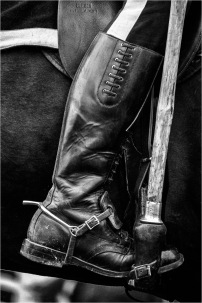 RCMP Musical Ride Black and White Boot - Daryl Bell