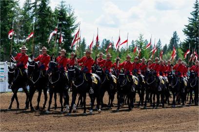 RCMP Musical Ride, Interlakes Rodeo - Bill Melnychuk 7993