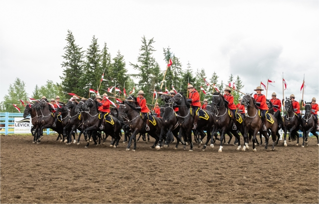 RCMP Musical Ride - Interlakes Rodeo 2018
