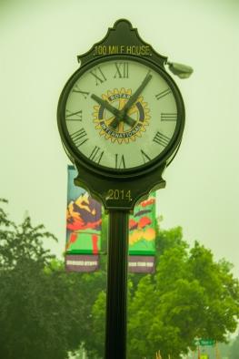 #26 public clock AM Brown