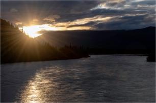 Stewart River Sunrise, Stewart Crossing,Yukon - Gloria Melnychuk - 2340-342