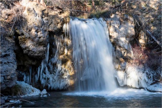 Falls and Hidden Faces at Clinton Falls