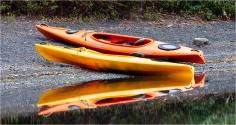 Kayaks at Meziadan - Gloria Melnychuk
