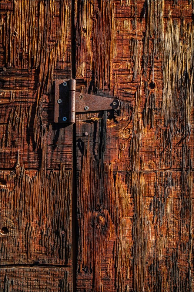 Old Hinge-Weathered Wood - Sharon Jensen