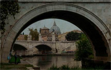 The Painter and San Pietro, Rome - Derek Chambers