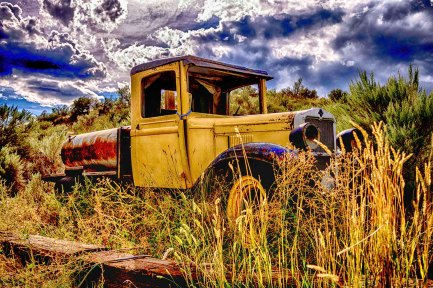 Skeetchestn Old West Ghost Town - HDR Truck - Tamara Isaac