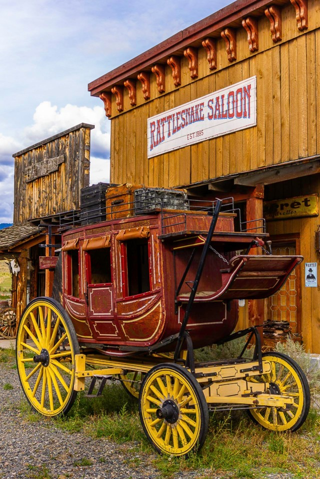 Who wants to ride shotgun? - Skeetchestn Old West Ghost Town