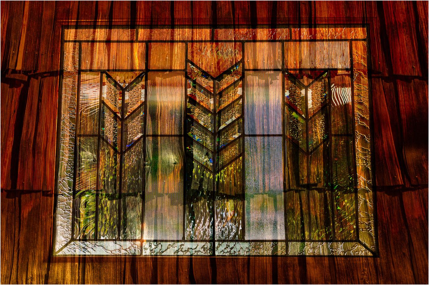 Window on Shingles Abstract - © - Sharon Jensen