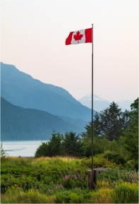 Canadian Flag-Tallheo Cannery-Bella Coola - © - Sharon Jensen