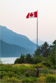 Canadian Flag-Tallheo Cannery-Bella Coola - © - Sharon Jensen