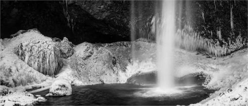 Moul Falls Winter Pano - Daryl Bell