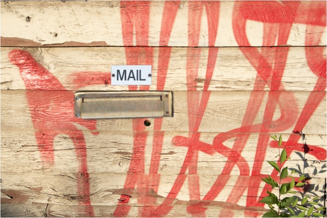 Mail Slot-Graffiti  - © - Sharon Jensen