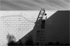 Woman on Ladder-LR - © - Sharon Jensen
