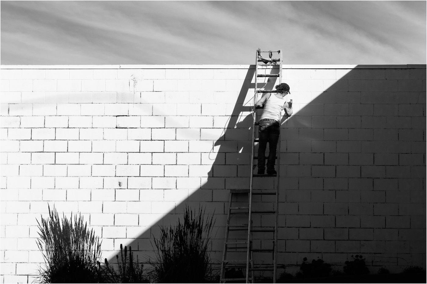 Woman on Ladder-PS - © - Sharon Jensen