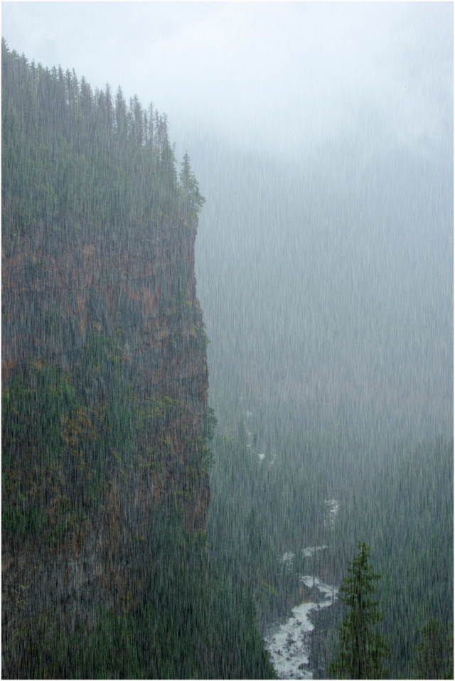 Heavy Rain at Spahats Creek, Wells Gray Park, British Columbia, Canada - © Larry Citra-1