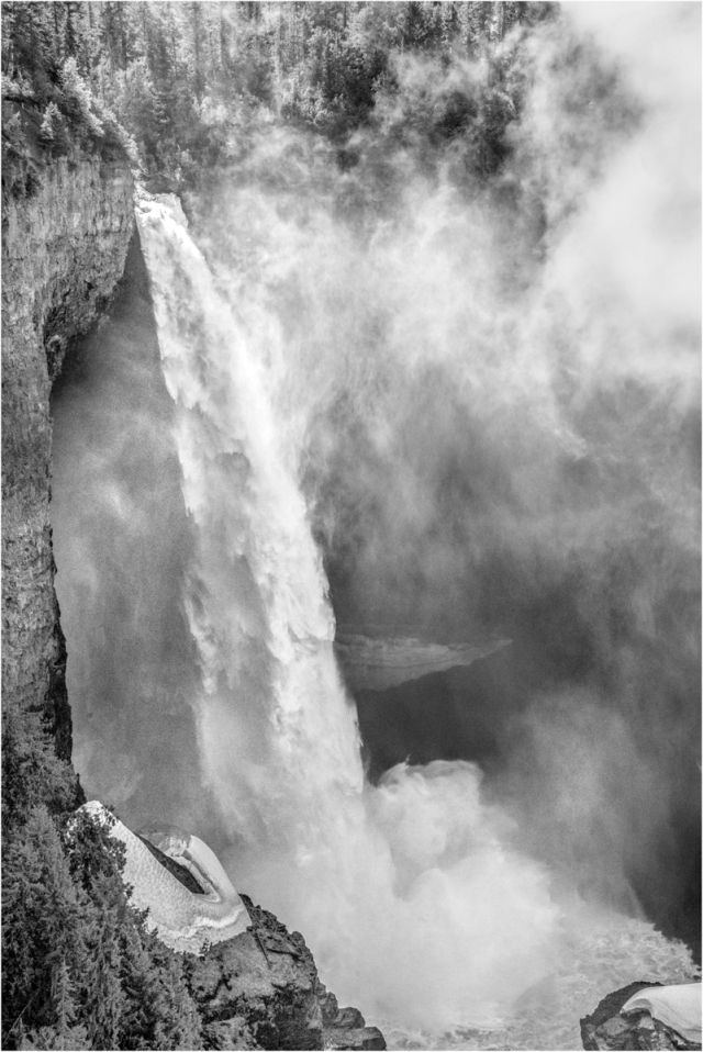 Helmcken Falls B&W 1a - © Larry Citra
