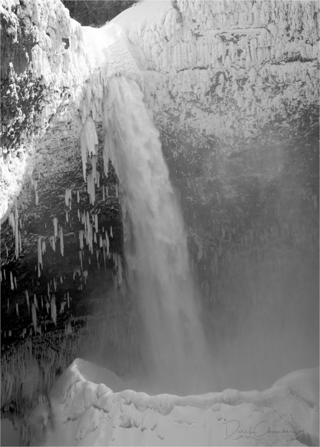 Helmcken Falls BW - Wells Gray Park - Derek Chambers