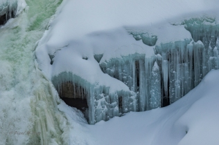 Icicles below the Falls - D Hopp