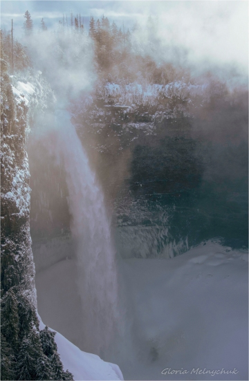 Misty Morning at Helmcken Falls ~ Gloria Melnychuk