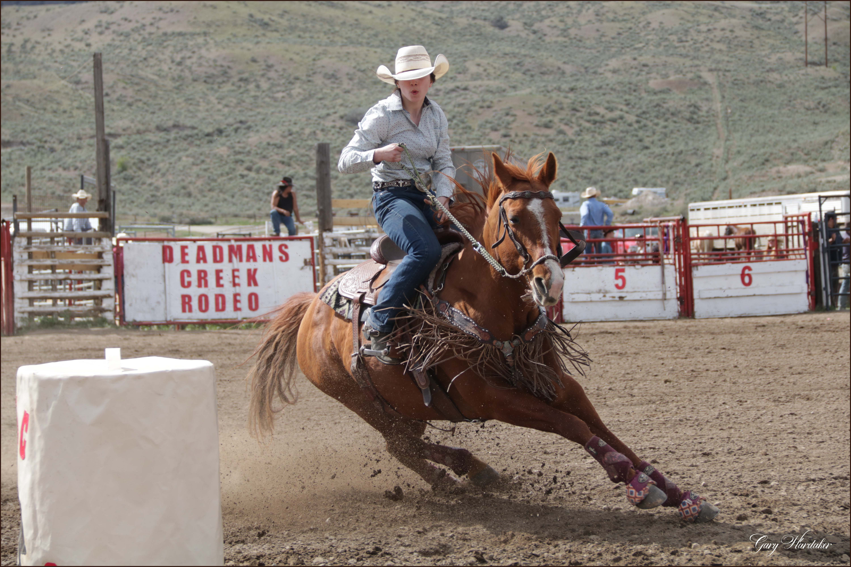 Deadman Creek Rodeo Barrel Racing- Gary Hardaker