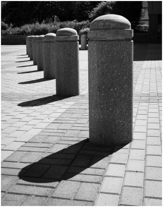 Concrete Posts and Shadows - © Sharon Jensen