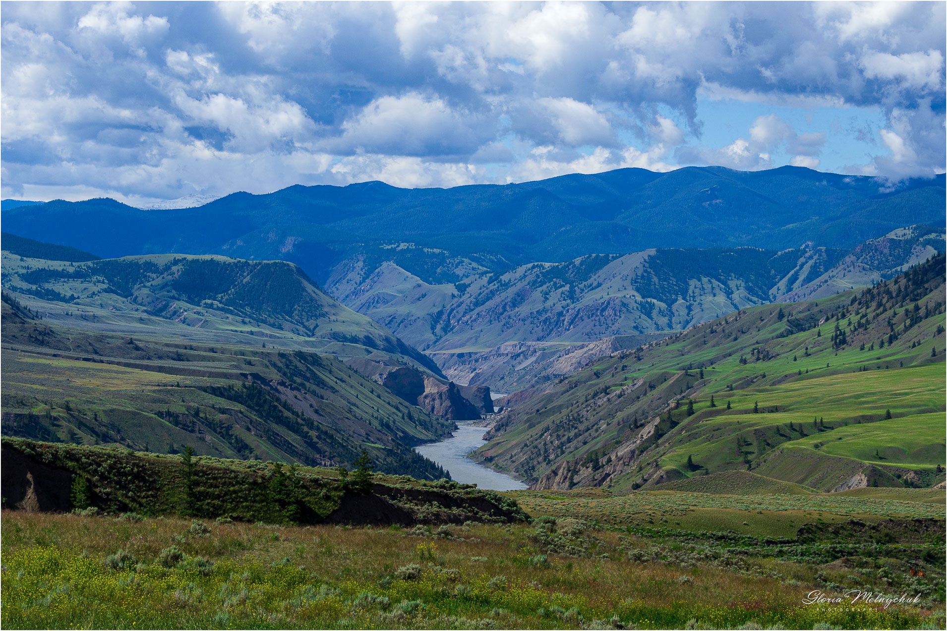 Grasslands and Fraser River - Gloria Melnychuk