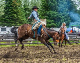 Rodeo_DSC0907-026 - Bill Melnycuk at 70th Annual Bridge L:ake Rodeo