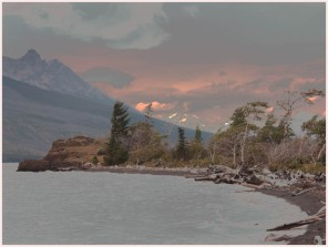 Sunset At Chilko Lake Nemiah Valley - AMBrown
