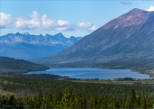 DianeH 8 Panorama of Connie Lake from base of Cardiff Mountain - DMHopp