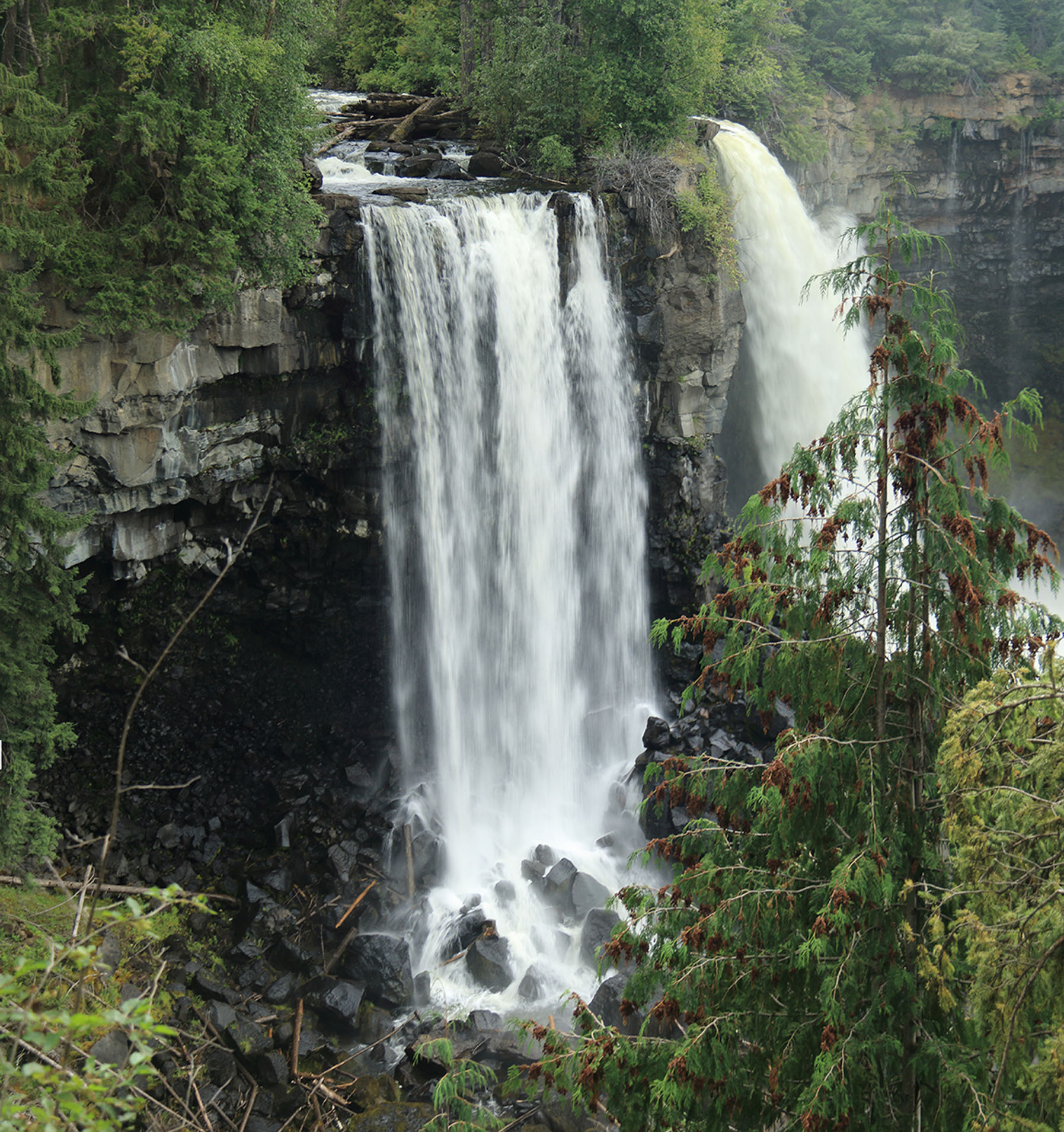 Canim Lake Falls Pano-2 - Doug Boyce