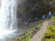 Going Behind Moul Falls -Nancy Cunningham