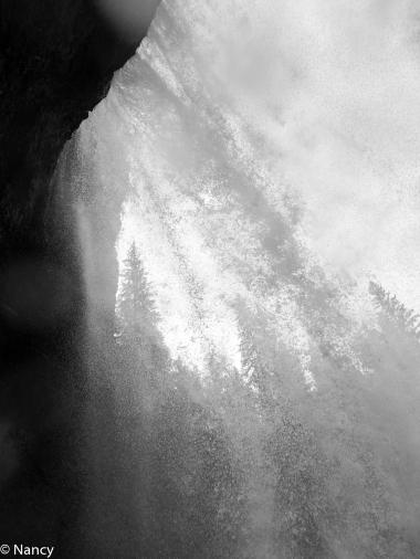 Entering Behind Moul Falls -Nancy Cunningham