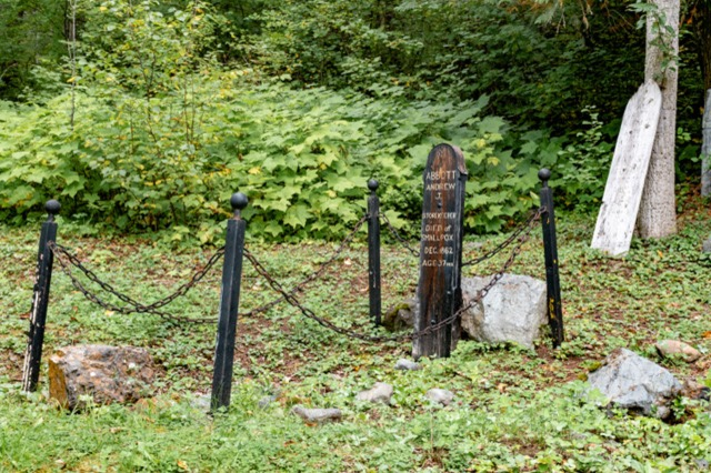 Grave at Quesnel Forks Cemetery-0420-Pamela Faiers