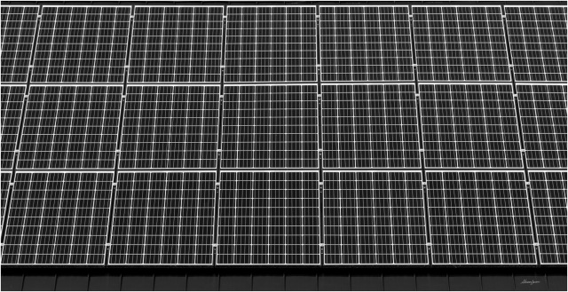 Solar Panels -BW - © Sharon Jensen