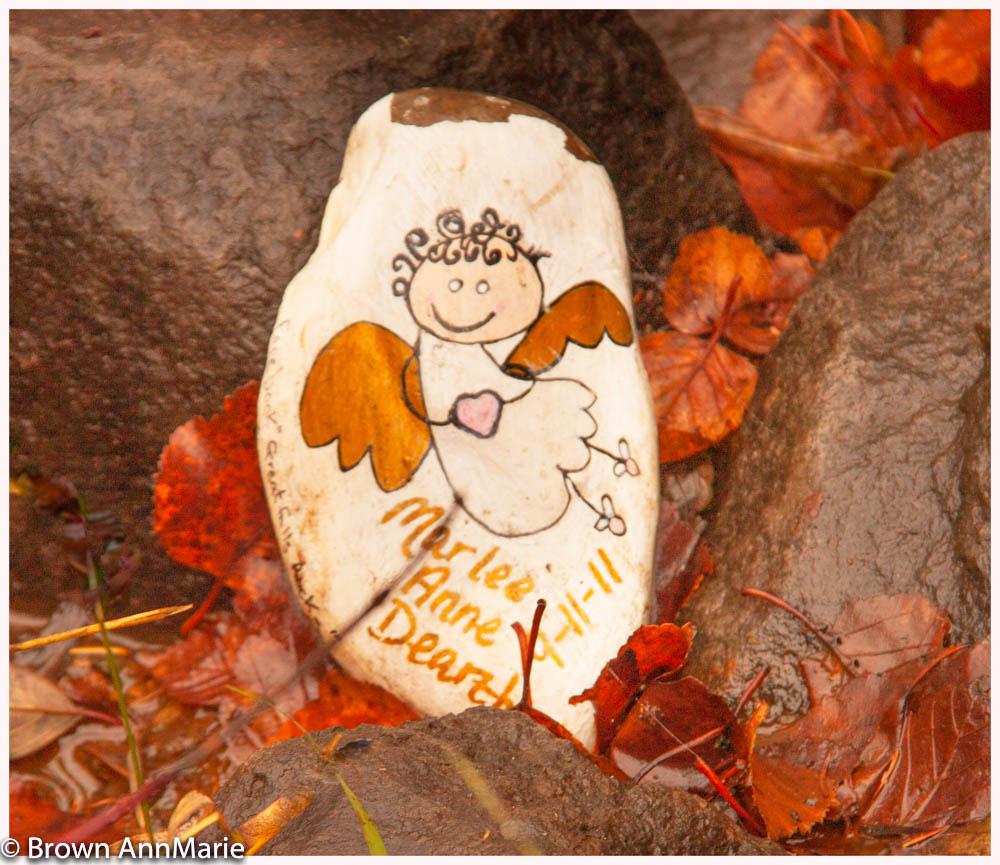 Garbage among  rocks - Ambrown