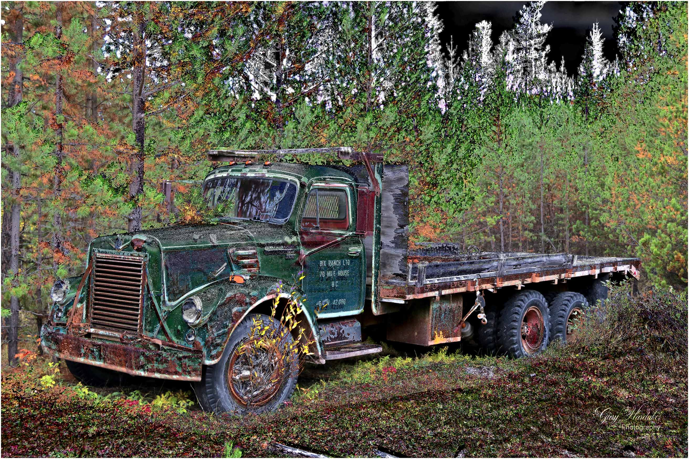 Old truck (Wolf Valley Ranch) 3- Gary Hardaker