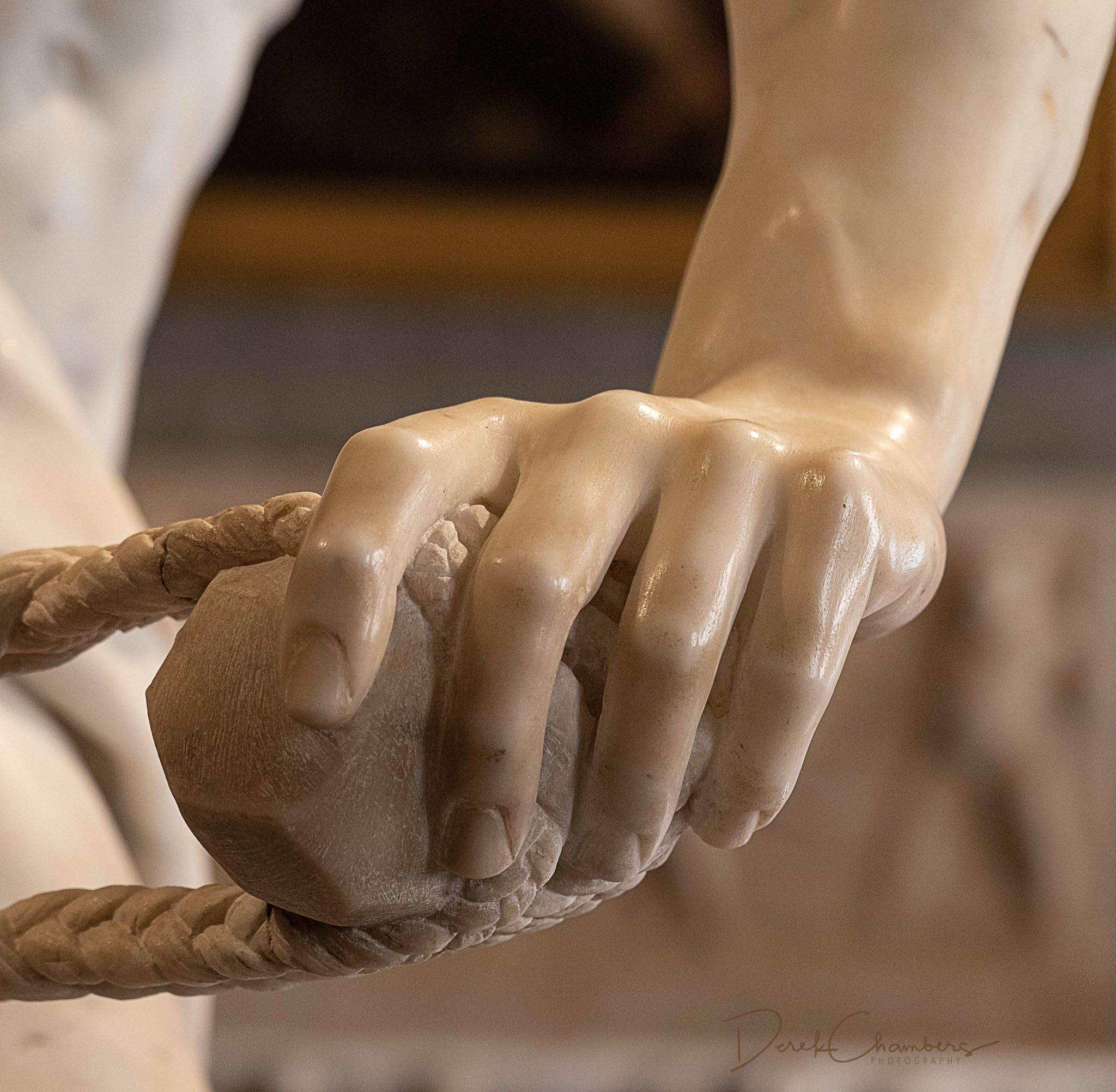 David,  The Sling and the Stone  - Detail - Bernini - Galleria B