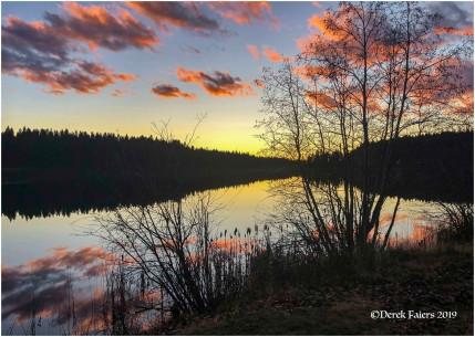 Sunset at Greeny Lake - Derek Faiers