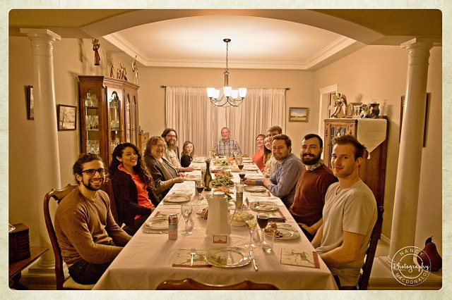 scavenger hunt # 23 Winter Holiday Celebrations. Turkey dinner and laughter with family and friends - Nancy C. _
