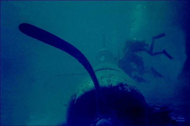 Diving on sunken WW2 Corsair- Gary Hardaker