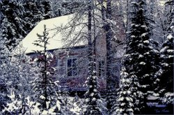 Richfield Courthouse- Winter scene- Gary Hardaker