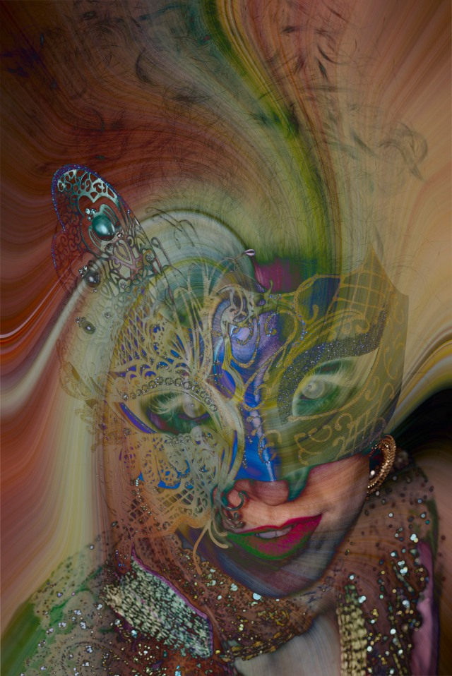 Psychedelic Masked Lady - Derek Chambers