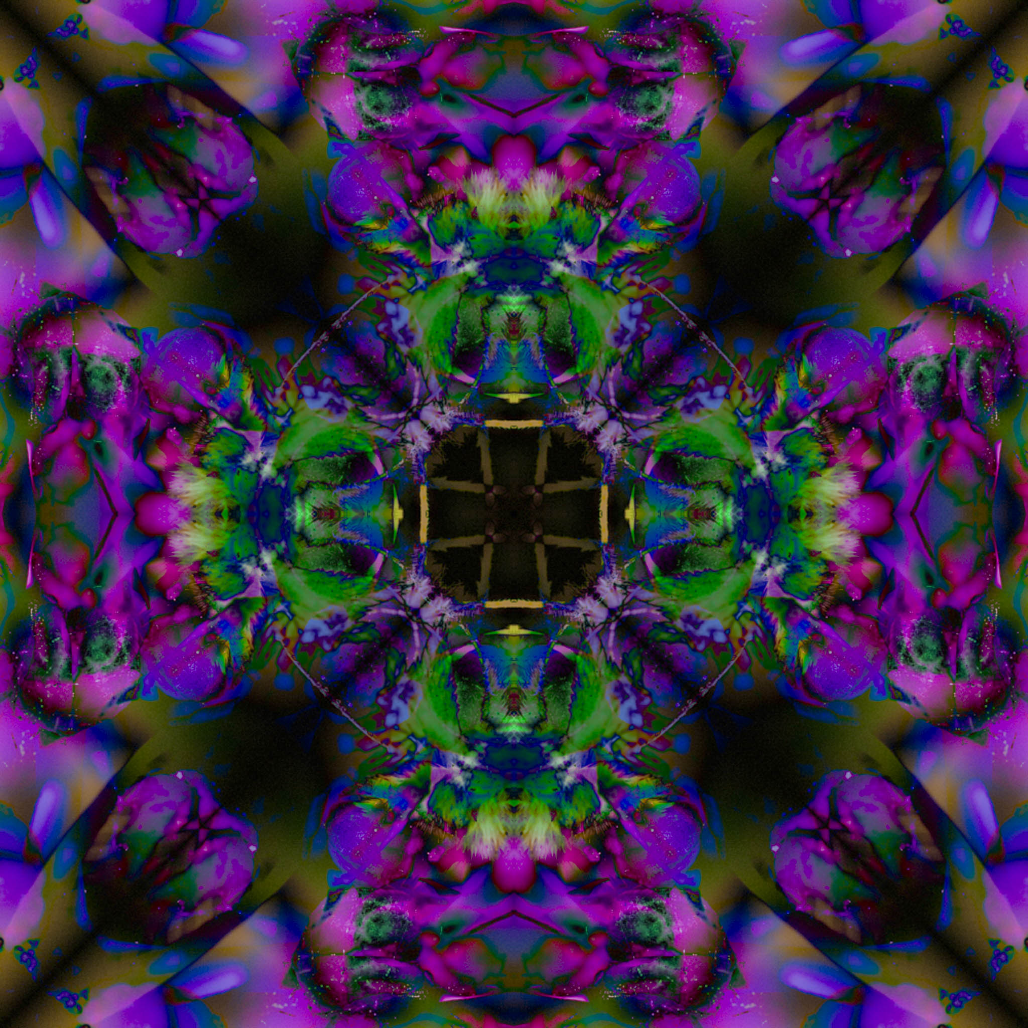Mandala from Hummingbird Moth on Lilac - DMHopp