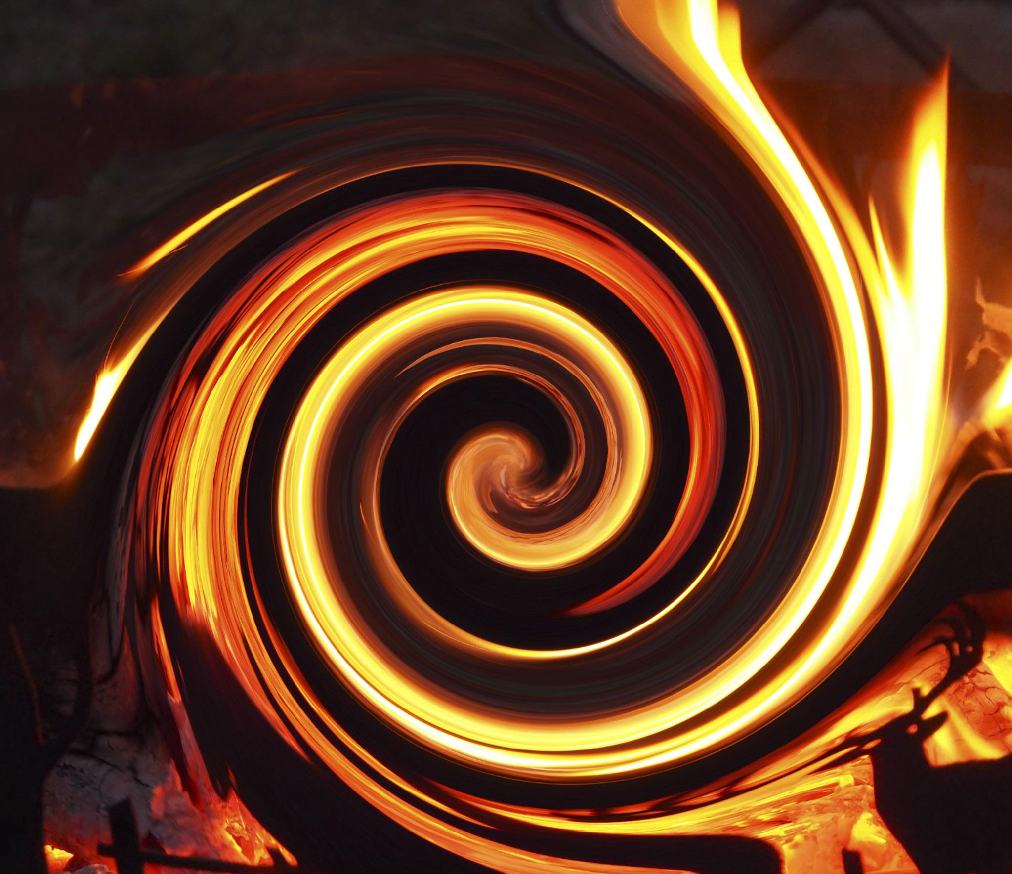 Fire twirl